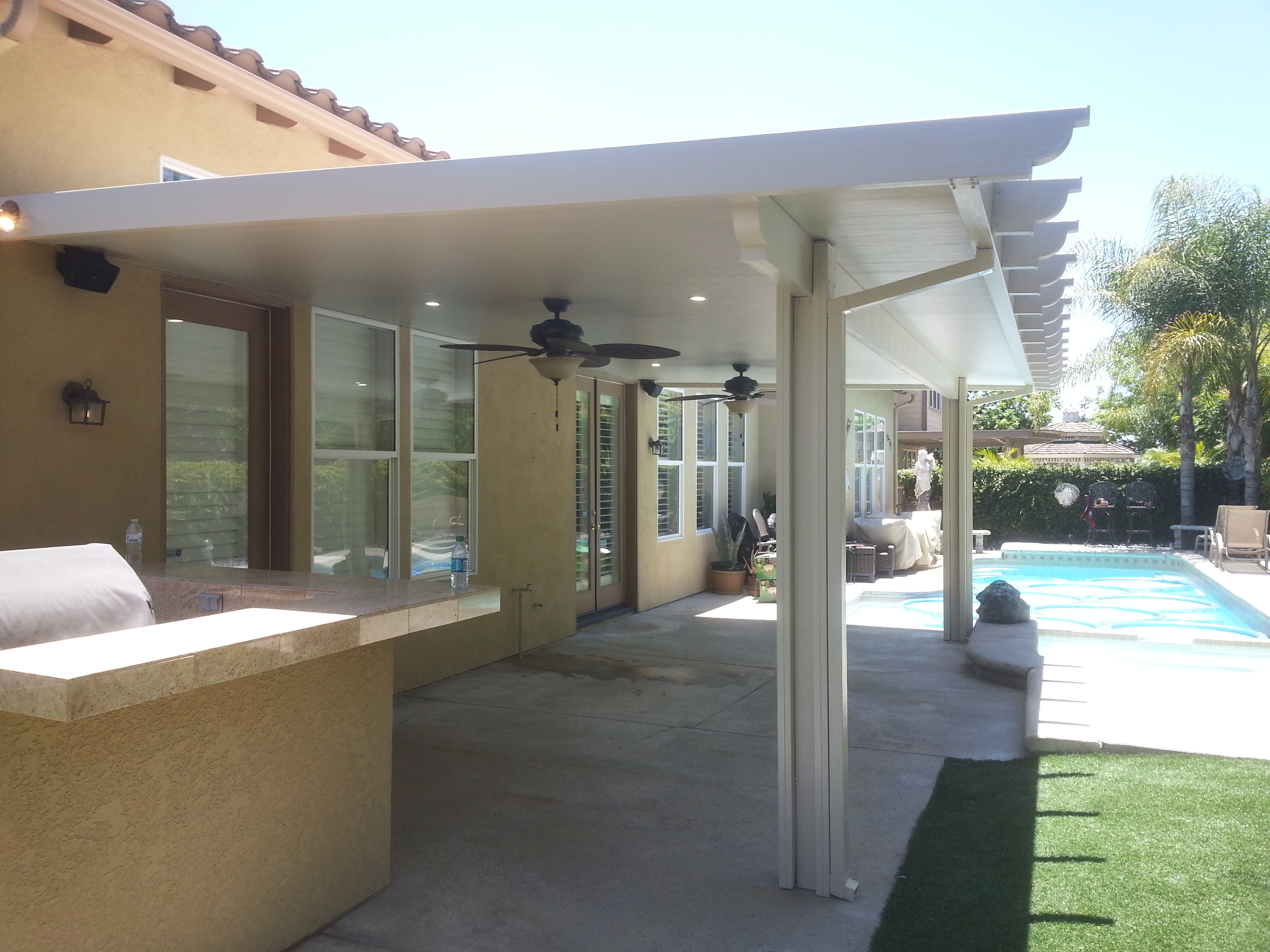 Perfect Alumawood Patio And Ceiling Fan Install
